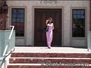 Two young schoolgirls meet the teacher after school to get screwed