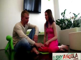 Shy Angela Having First Time Sex