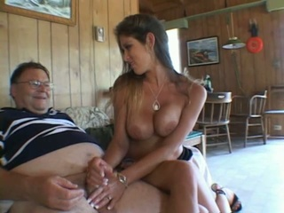 Lucky fat bastard fucks some pleasing girl's hand