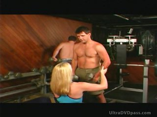 Busty Blonde Slut Fingers a Submissive Guy's Anus and Gets Overspread in Cum