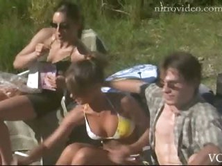 Barbara Kottmeier, Erica Cerra, Lynsey Brothers & Tiffany Paterson Sunbathing