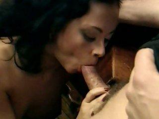 Delicious Olivia Del Rio swallows a hard fuck stick