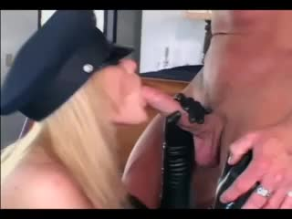 Latex lady gets in bed and fucks hard