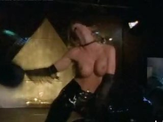 Sensual Stephanie Hudson Dancing In a Sexy Leather Cowgirl Outfit