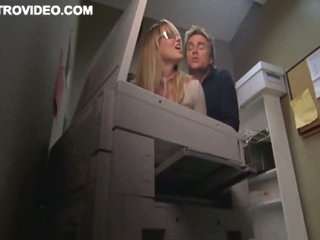 Blond Bombshell Baelyn Neff Gets Gangbanged Against The Copier