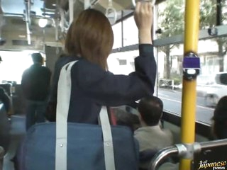 Sexy Asian School Girl Gets Fucked on a Crowded Bus