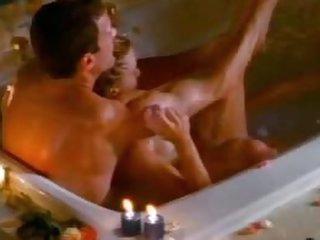 Busty Softcore Actress Michelle Hall Gets a Soapy Fuck In The Bathtub
