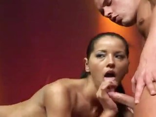 Fuck show on stage with a babe