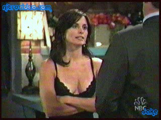 Beautiful Courteney Cox Looks Amazing In a Sexy Black Negligee