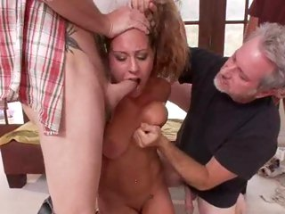 Alluring Lizzy London gobbles down these pricks