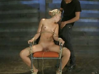 Bound whore Dylan Ryan gets a face hole full off cock