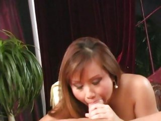 Raunchy Tia Tanaka downs a hard meat pole