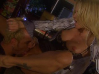 Busty Golden-haired Jessica Drake Sucks and Copulates For Cum