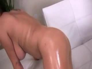 Oily Alexis Silver Reamed With Large Black Dick