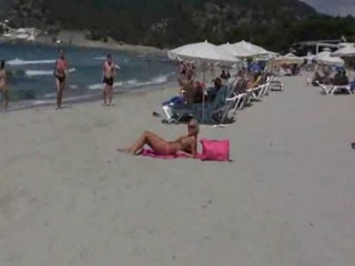 Blonde Bitch Got Nailed In Ibiza