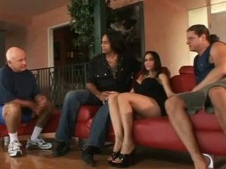 Hubby watched wife got choked with  a big hard dick