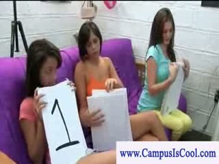 Cfnm college beauties sucking shlong for contest