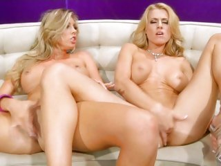 Dripping tarts Randy Moore & Samantha Saint one as well as the other cum