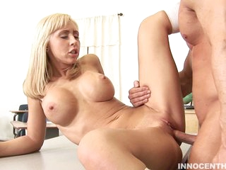 Jessica Lynn gets her fresh bald vagina pounded savagely without mercy.