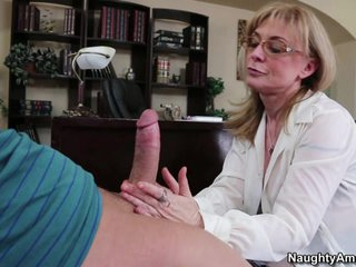 Alluring Nina Hartley drools on this palatable fuck stick