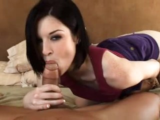 The majority beautiful pornstar ever sucks dick