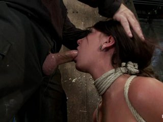 Dominated Cassandra Nix gets a mouth full of hard weenie