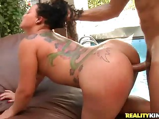 Tattooed brazilian babe Mary Rodrigue with outstanding ass