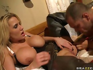 Large titted cowgirl Alanah Rae gets finger fucked