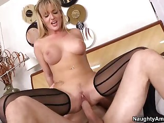 Teen Tristyn Kennedy gags on cock and rides it