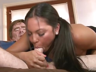 Adriana Luna takes mature dick of her stepdaddy