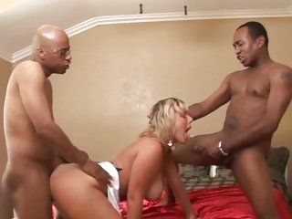 Two big black cocks is heaven for Velicity Von
