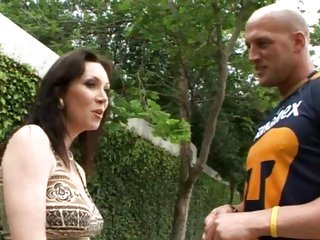 Cheating bitch Rayveness hooks a football player