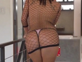 London Keys slips a thick cock into her Asian pussy