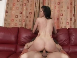 Kendall Karson rides her tight pussy on a hard cock