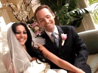 Audrey Bitoni fucks cock on her wedding day