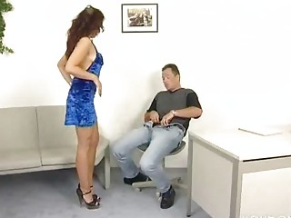 Cute German chick wants to pass her audition