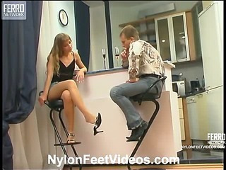 Diana&Adrian cool nylon feet action