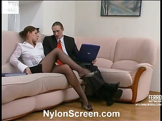 Sophia&Marcus naughty nylon video