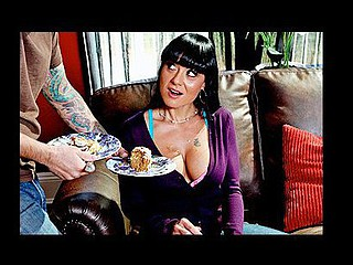 Mahina visits a good ally for tea and cake. When this babe arrives, her ally's son Tommy is being punished and coercive to action as the maid. Mahina learns Tommy is being punished for being a horny little bastard and fucking the maid in the kitchen. Intrigued with his large tit obsession, Mahina shows Tommy how to REALLY clean the kitchen properly.