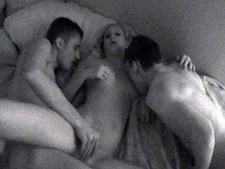 Some nubiles are satisfied with one shlong. It takes two studs to satisfy this blond named Zara. That Babe had no idea that a hidden camera would be watching her as this babe fooled around with John and Carl. We get to watch anything as that babe uses her body to satisfy one as well as the other of her paramours at the same time.