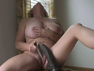 mature woman with big black dildo