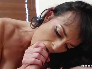 Lena sucks that dick with pleasure and then gets on top of the guy and rides him, taking all his long hard cock in her pink vagina. She loves to get fucked deep between those long sexy legs and her natural tits are bouncing while she takes it. This brunette milf is horny and maybe one dick is just not enough for her, will she get some more?