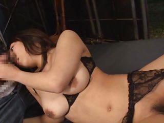 Yui is about to experience the full hardness of two erect cocks. She's a pretty milf with a smoking hot body and a lustful mouth. The guys are playing with her body just to make her horny and then she kneels in front of them. She grabs their dicks and begins pleasuring the guys as good as she can