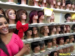 The serial MILF hunter is on the strike again! Visiting a wig shop, he found himself flirting with the hot MILF whose dress hugs her curves in all the right places. She did not seem to mind as he starts undressing her and was even more compliant as they continued their business in the stockroom!