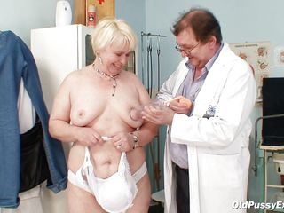 Bozena is a mature lady with big boobs, slutty face and big ass. After doctor asks her to undress he is using a sucking machine to make her nipples harder. This doc has a dirty mind and surely he is making her horny, who knows what tricks he has to make this old slut ready to fuck.