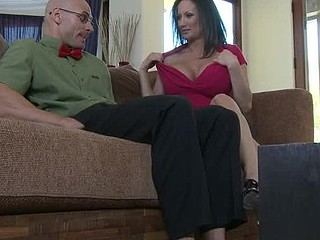 Stephanie Wylde is on a mission. Her son's most excellent ally is a large time nerd and it's putting a strain on her son's friendship with him. Stephanie takes it upon herself to try and turn this nerd into a stud with her home made remedy...her vagina.