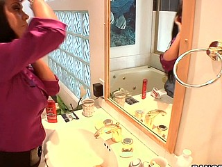 Wouldn't u want to be the door to door sales dude and come across Mariah Milano?!?! That's exactly what happens in this episode of Mother I'd Of a piece with To Fuck Soup. The vixen that that babe is causes her to snatch the juvenile 20yr old sales fellow from her door step and drag him to her couch where that babe copulates the living sale out of him. This Babe tires easy with his rant there what ever that guy was selling and starts to engulf his knob right there in her living room. The 'paper guy' is so entranced with her this guy can't move and this babe pounces. Milfs are awesome!!! Have A Fun!