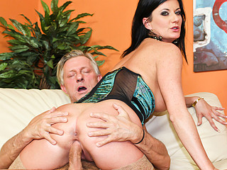 Sexy darksome haired mother I'd like to fuck gets fucked hard then gets cum facial