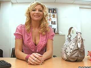 Christina Skye is one hawt mother i'd correspondent to to fuck! Golden-Haired, tall and sexy. That Babe prefers to be fucked by somebody that's packing some girth and can't live without to be fucked for hours. Luckily for her, Hunting Evans is a youthful stud that'll give her what that babe needs. Dick! But first, Christina Skye rides the large vibrator that sits on Joey Rays desk until this babe cums. Preparing for what's to come. Hunting Evans handles this mother i'd correspondent to to fuck with ease. Stretching her pink cunt out as that guy copulates her unfathomable and hard. Watch Christina Skye in action. That Babe's sexy! Have A Fun!