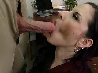 Jordan is down visiting his mother as a result that babe takes him to her work and shows him around. When this chab meets her sexy boss this babe just now takes a liking to him. The boss quickly finds tasks for Jordan's mother as a result this babe can have him all to herself.